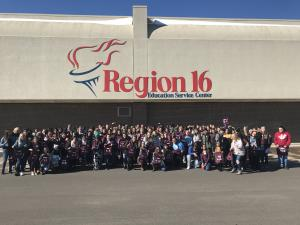 Future teachers form the Panhandle area. Can you find Friona students?