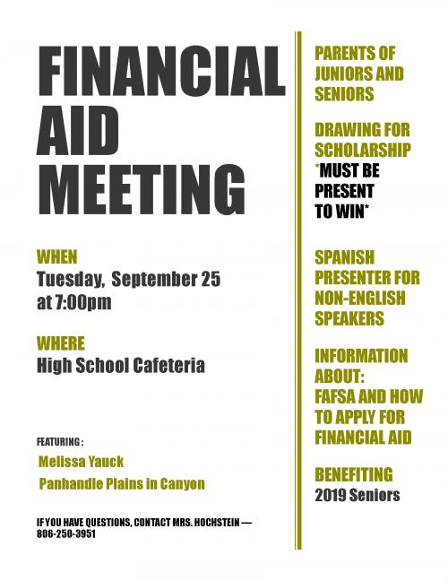 Financial Aide Meeting