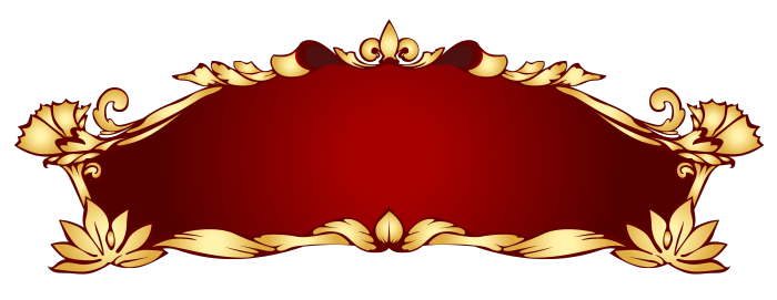 red and gold banner