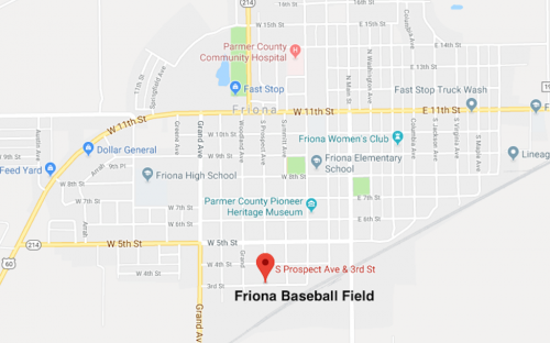 Friona Baseball Field Map