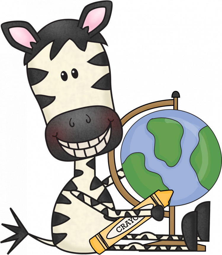 World Globe Zebra