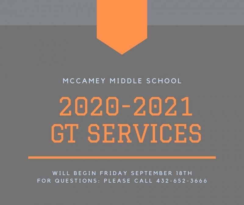 Middle School GT Info