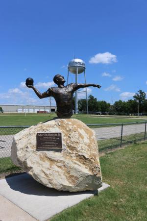 Marvin Brown Jr Memorial Statue