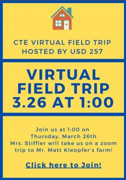 Virtual Field Trip TODAY at 1:00
