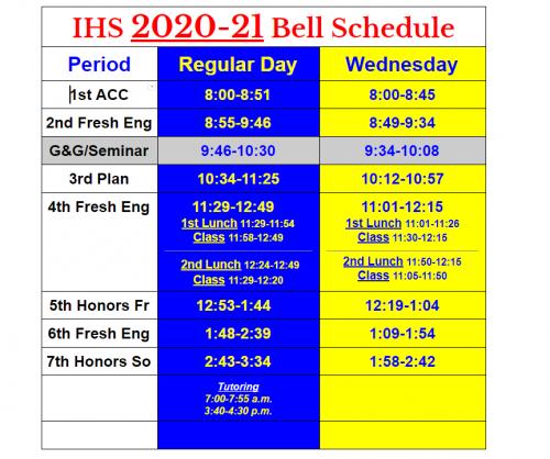 Dean Class Schedule