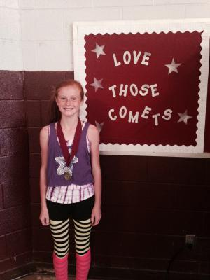 Katie placed 7th in the 6th grade division of the Velma Cross Country Meet