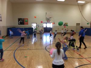 Volleyball Skills with Balloons
