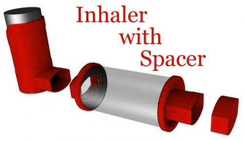 Inhaler with Spacer