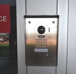 Picture of high school door buzzer