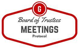 Board of Trustees Meeting Protocol