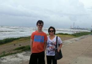 Storm coming- Galveston seawall