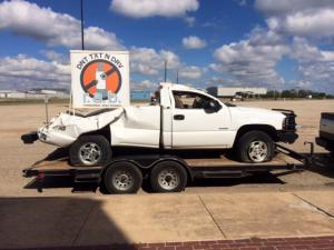 Alex Brown's truck is brought to every presentation her mom makes to show students first hand the dangers of texting and driving.