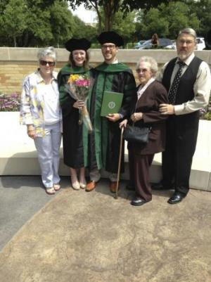 Matthew's family attending graduation