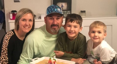 My family! My husband, Kyle, and my sons, Brody (8) and Russ (5).