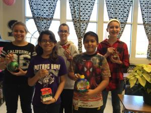 6th Grade Advanced Math Ornament Contest Winners