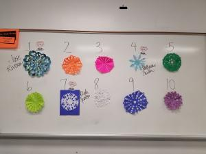 Snowflake competition 2016-2017 Top Ten!