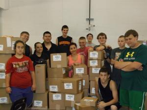 More than 700 boxes received