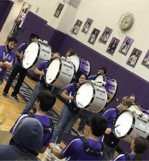 Bass Line at the Pep Rally
