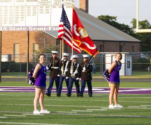 Color Guard Aug 28, 2015 C/Capt Gregory, C/2ndLt Lambeth, C/Cpl Brightwell, C/LCpl Mahaffey