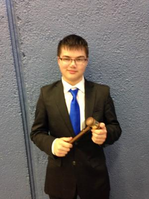 Speaker's Gavel for CX at the Kingwood Debate Tournament