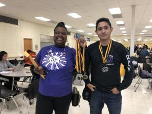 UIL Accounting Team 2018-2019 Nederland 1st Place - Sponsor Charmaine Brooks and Richard Estrada