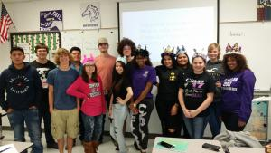 2016-17 Sixth period sporting their senior crowns!