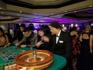 Fun at the Roulette Table at PROM 2018