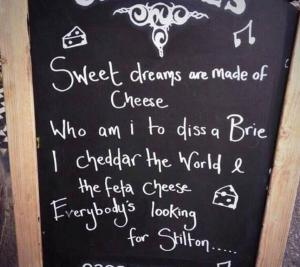 Proof that things can be Cheesy in a good way