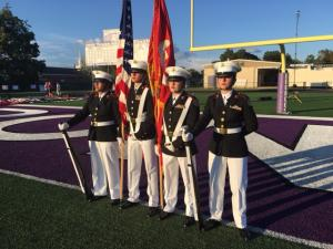 First All Female Color Guard at Bronco Football Game