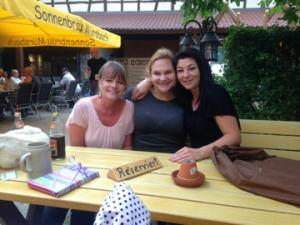These are my two best girlfriends in Mürsbach, my little village in Germany.  On the left in Manuela, or Manu for short, and on the right is Yvonne.