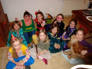 My daughter's birthday is in February, which is during Fasching (a holiday very similar to Mardi Gras here; both celebrate the time leading up to Lent) so that meant everyone came dressed up for her birthday parties.