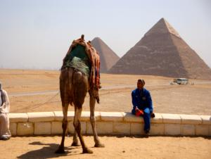 I did not ride a camel at the Great Pyramids of Giza, the people trying to get you to ride were to aggressive for my taste.
