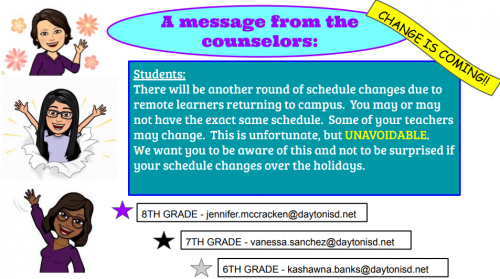 counselor message