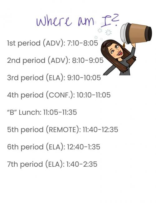 Mrs. Jett's Schedule