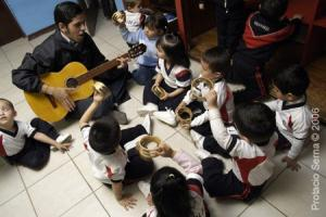 Music class with K students