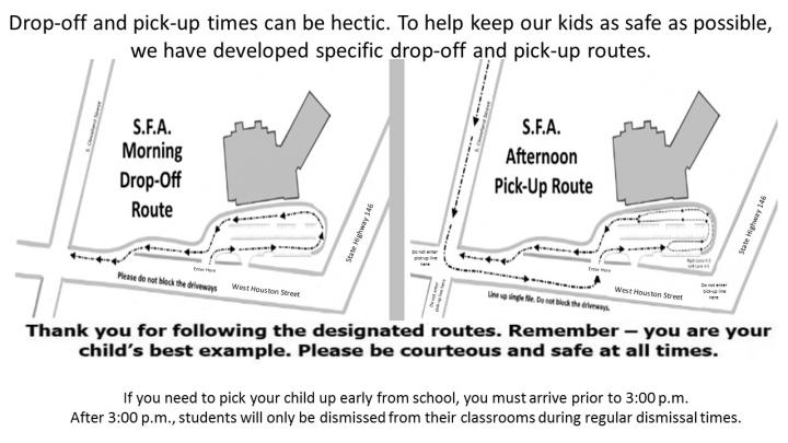 Pick up and Drop Off Routes