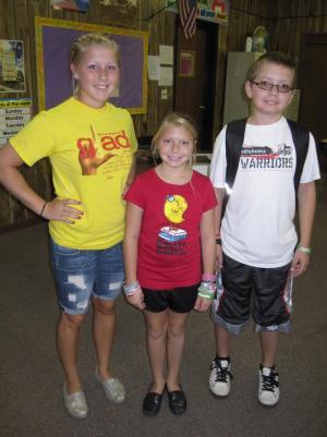 My precious children's first day of school
