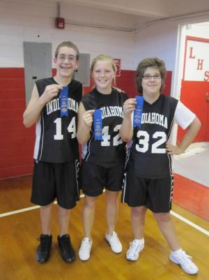The 3 B's placed first in the Unified 3 -on -3 basketball tournament