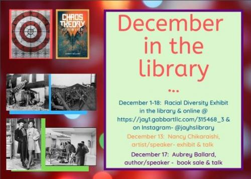 December events in the library.