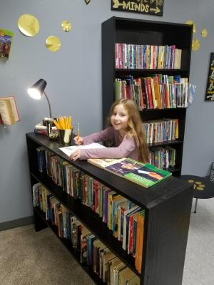 Chayse working hard on her novel study!
