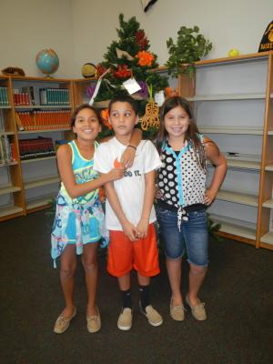 THANK YOU to the Shotpouch family for donating the 7 foot tree to the library that we have created as a Poet-Tree!