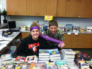 Book Fair Assistants - Molly and Brody