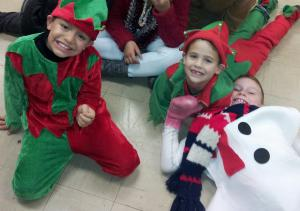 Backstage Pics-Christmas Play 2013