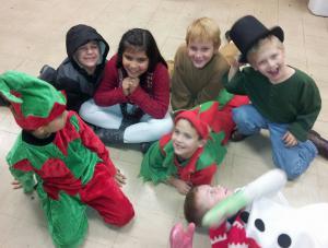 Backstage Pics-Christmas Play 2013