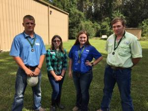 Tarkington FFA Wildlife Team advanced to Regionals.
