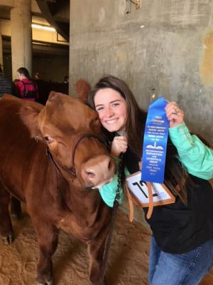Ryleigh McKay won first in her class in the other registered breeds class!!