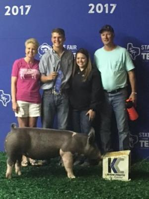 Ryan McCormick won first with his breeding gilt.