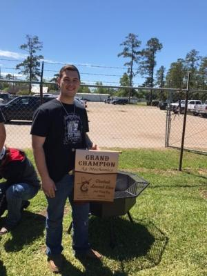 Cameron Luckey won Grand Champion Ag Mechanics.