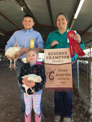 Faith Reynolds won Reserve Champion Broiler.