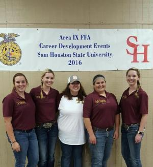 Congratulations to the Tarkington FFA Horse Judging team. They have advanced to State CDE contest.